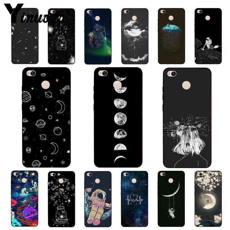 Yinuoda sky Space planet черный белый Солнце Луна Звезды Чехол для телефона для Xiaomi mi5 6 A1 A2 Lite Mi9 9SE mi8lite 8explorer F1