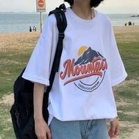 short sleeved mens t shirt 2021 summer trend loose half sleeved ins tide brand hong kong style cartoon anime oversize top