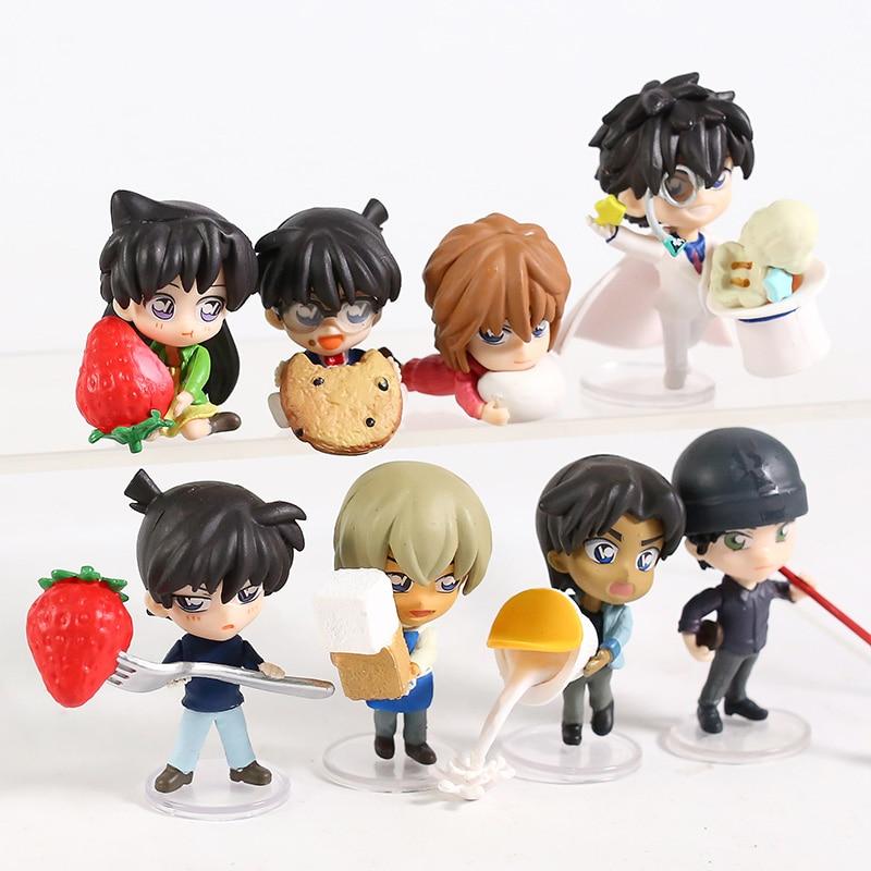 Detective Conan Case Closed Jimmy Kudo 8pcs/set Figure PVC Doll Model Toys Car Decoration