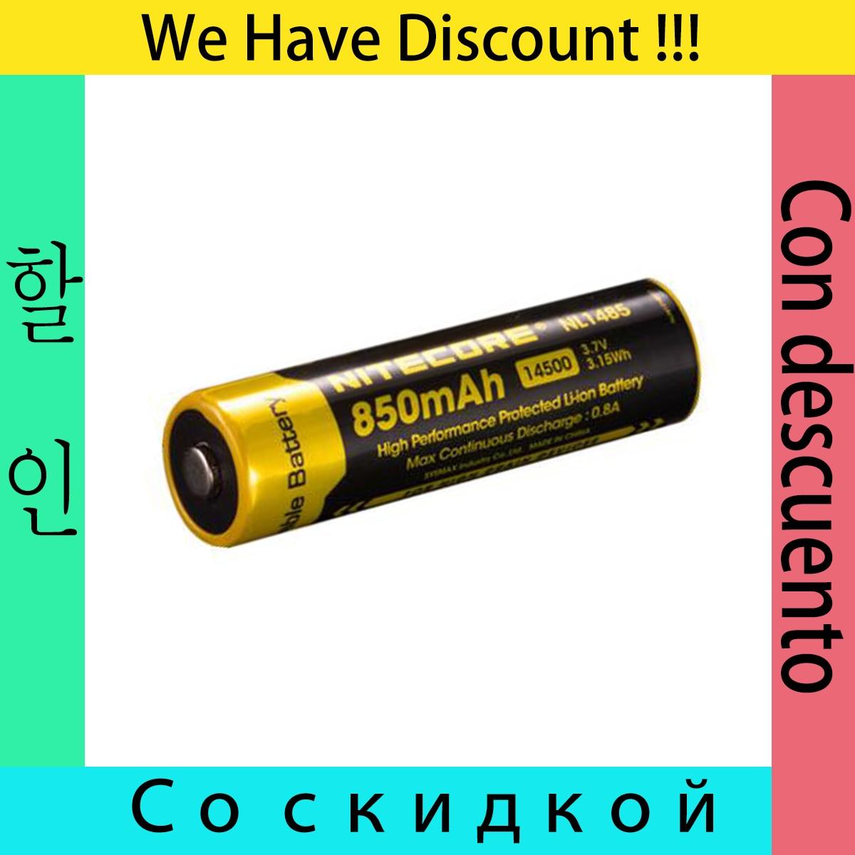 ORIGINAL NiteCore NL147/NL1485 14500 3,7 V 750mAh 2.8Wh Li-ion batería recargable con protección