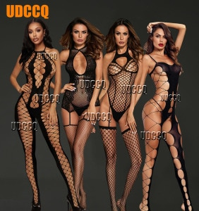 Women Sexy Fishnet Lingerie Underwear Chemises Catsuit product Teddies erotic Catsuit cosplay slutty clothes plus size clothing