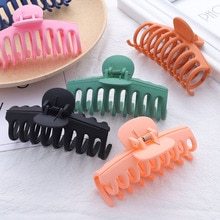 Fashion Hot Sale Solid Color Claw Clip Large Barrette Crab Hair Claws Bath Clip Ponytail Clip for Wo