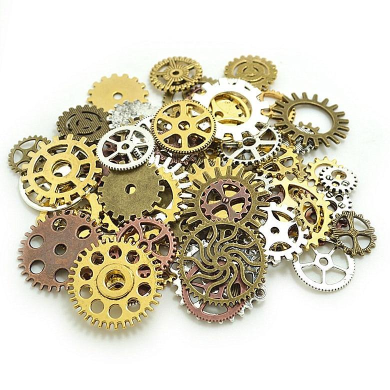 Metal mechanical gear mixed style gear DIY accessories 100g / pack