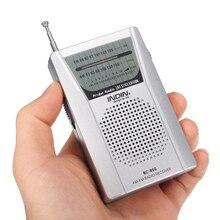 BC-R60 poche Radio antenne télescopique Portable Radio monde récepteur avec haut-parleur 3.5mm écouteur Jack