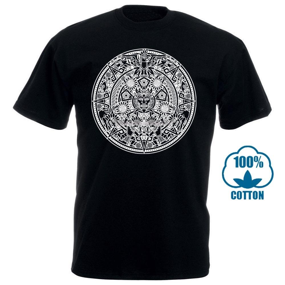 Mandala azteca camiseta indios americanos Mayans mayas señal calendario México 011441