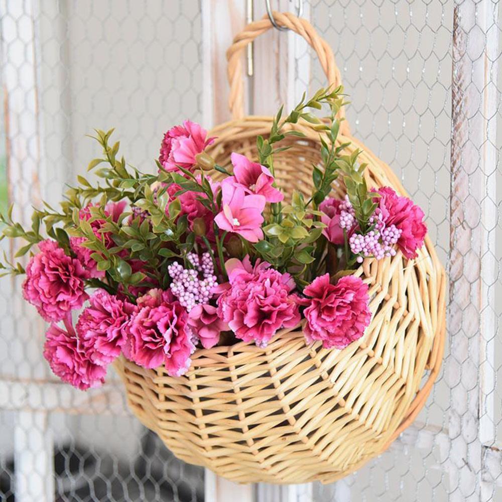 Keranjang rotan bunga rotan menggantung periuk pokok anggur penanaman - Peralatan berkebun - Foto 4