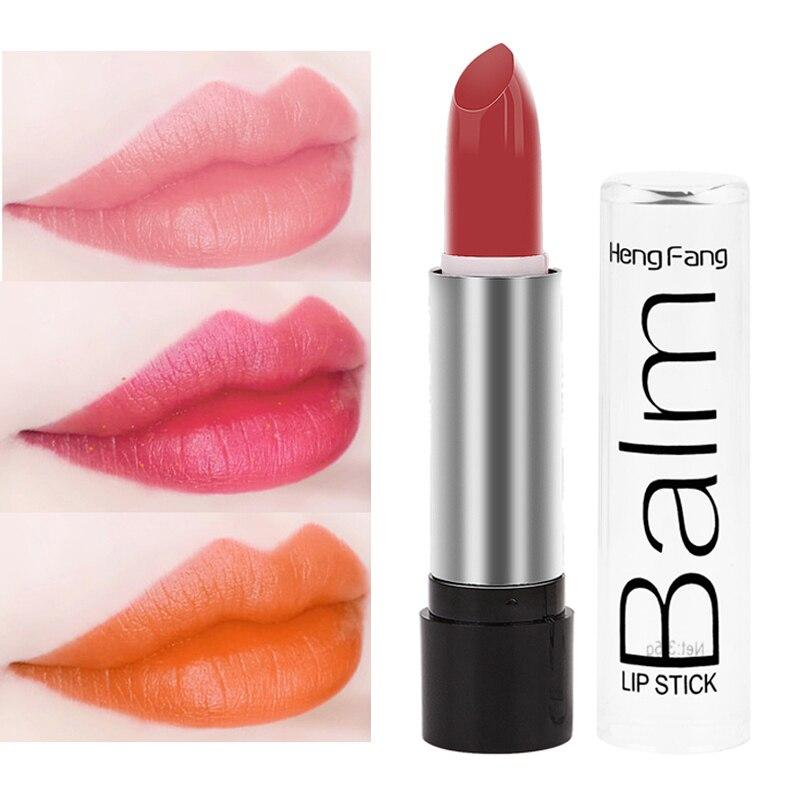 Heng Fang, 12 цветов, гладкая Увлажняющая губная помада, стойкая Губная Помада красота, розовый, красный цвет, блеск, помада для губ, макияж, губы