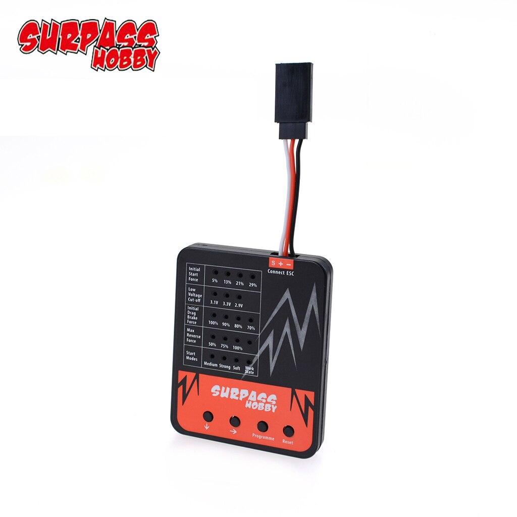 Карточка программного обеспечения бесщеточного esc SURPASS HOBBY со светодиодсветодиодный подсветкой карманного размера для радиоуправляемого г...