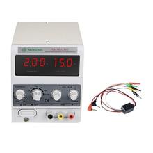 Yaogong 1502DD DC Регулируемый источник питания цифровой дисплей регулируемый электронный поддерживающий Амперметр 15V 2A