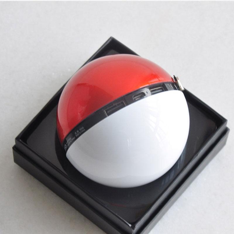 Cargador de teléfono móvil USB Dual DC5V/2.1A salida 12000mAh dibujos animados Pokeballs regalo cargador de batería externa portátil