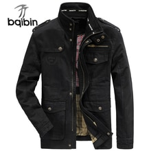 Spring Autumn Jacket Men 100% Cotton Business Casual Cargo Military Multi-pocket Mens Jackets and Co