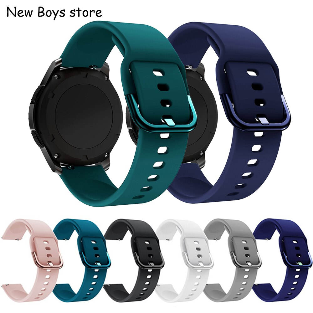 20 22mm silicone soft watch band for samsung Gear S3 for GALAXY WATCH for huawei GT2 sport strap for Amazfit Bip for active loop