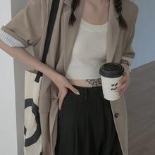 Suit Coat Women's Summer 2021 New Thin Design Sense Short Sleeve High Sense Small Suit Top