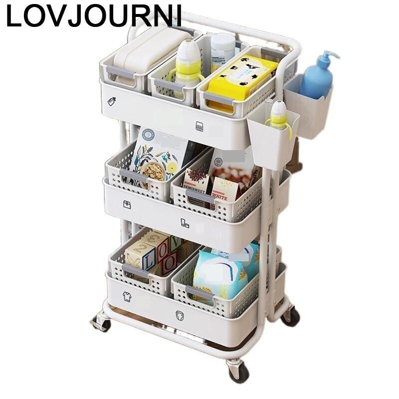 De Cocina Mensole Organizacion Cuisine Rangement Shelf Repisas Mensola Kitchen Storage Estantes with Wheels Trolleys Shelves