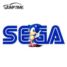 JumpTime 13cm x 4.9cm For SEGA Sonic Vintage Logo Vinyl Sticker Car Bumper Window Decal Waterproof Accessories Car Stickers