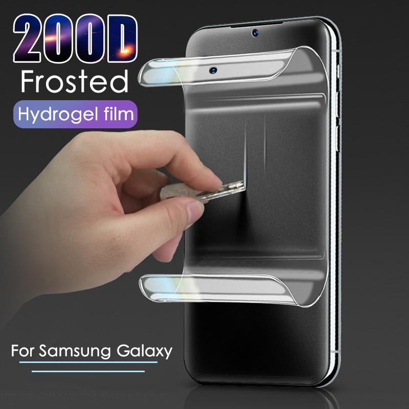 200D матовый гидрогель пленка для samsung Galaxy A10 A20 A30 A50 A70 Экран протектор A51 A71 A60 A40 A80 M10 M20 M30 матовая пленка для печати