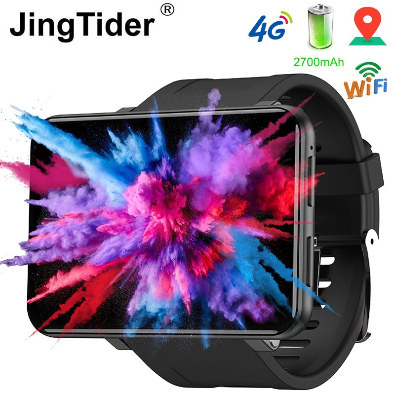 "JingTider DM100 4G Smart Watch 2.86"" IPS 3GB /32GB MTK6739 Quad Core Android 7.1 Smartwatch 2700mAh Battery IP67 Waterproof GPS"