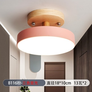 Modern Three Color Changeable LED Ceiling Light Avenue Corridor Passageway Simple Ceiling Lamps Nordic Lighting Fixture