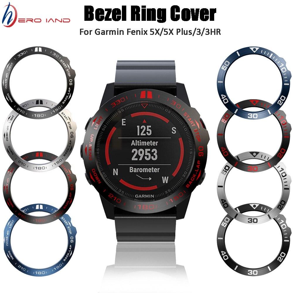 Assista anel adesivo capa anti risco caso de metal para garmin fenix 5x/5x mais bezel inserção fenix 3 fenix 3 hr