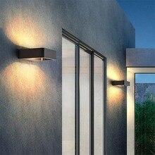 7w LED en aluminium extérieur mur LED lumière chaud froid étanche porche lumière moderne mur LED lampe cour noir maison Decoratio