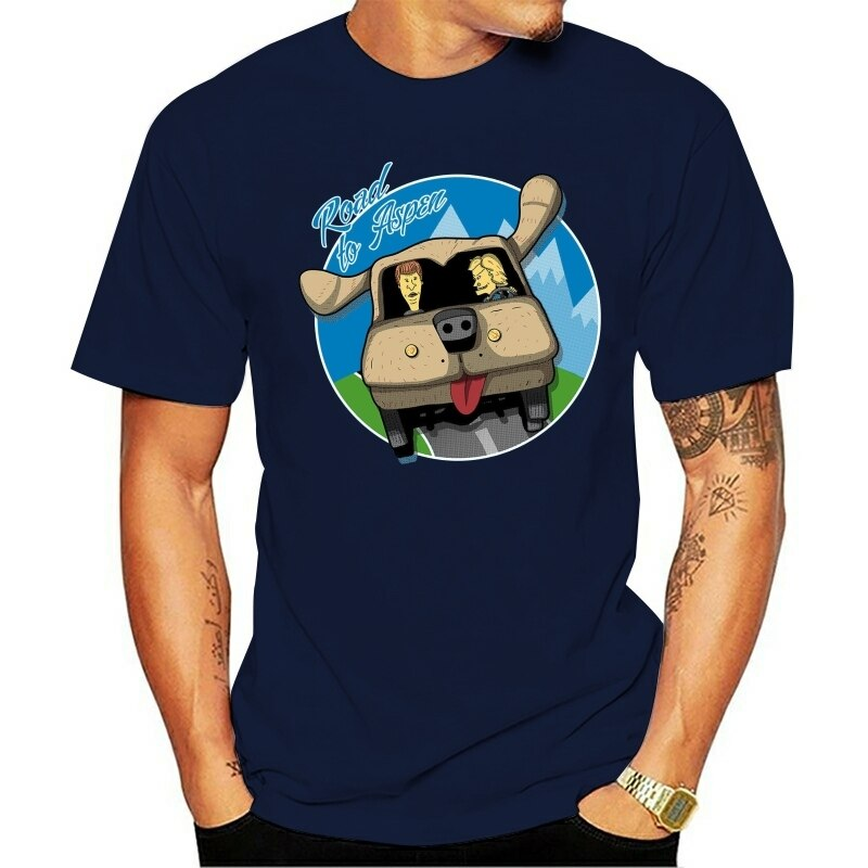 Droga do Aspen głupi i Dumber Beavis i Butthead samochód czarny T-Shirt S-6Xl nowa koszulka Unisex zabawna koszulka