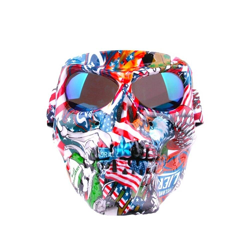 Солнцезащитные очки для мотокросса, уличная спортивная Ветрозащитная маска для лица с призраками, защитные очки, очки для езды по бездорожь...