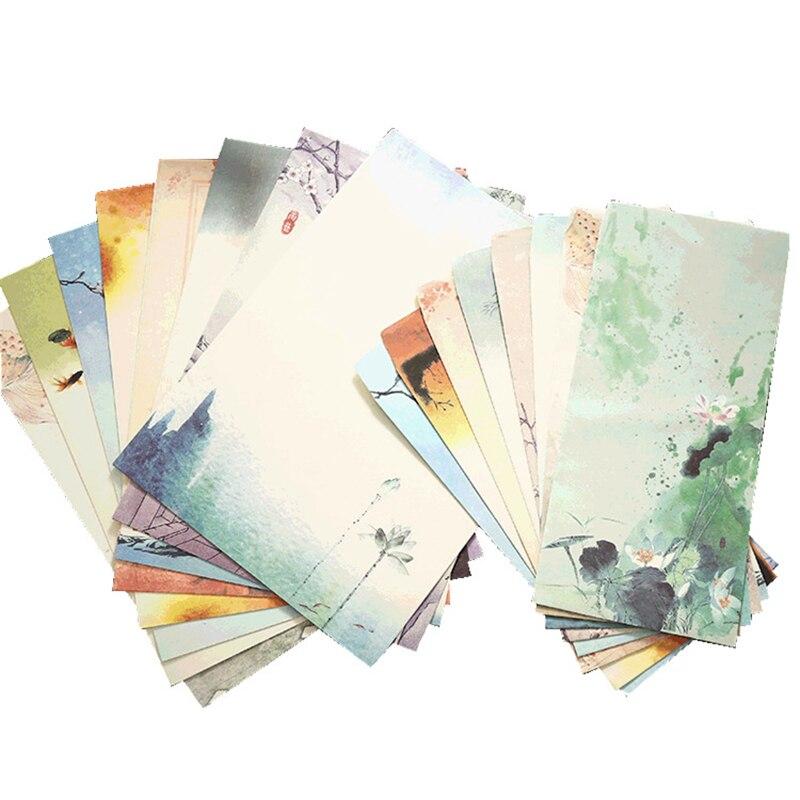 YHSMTG 64 шт. китайский Стиль ретро записи Бумага Винтаж канцелярская бумага для письма Бумага канцелярские наборы (смешанного рисунка)