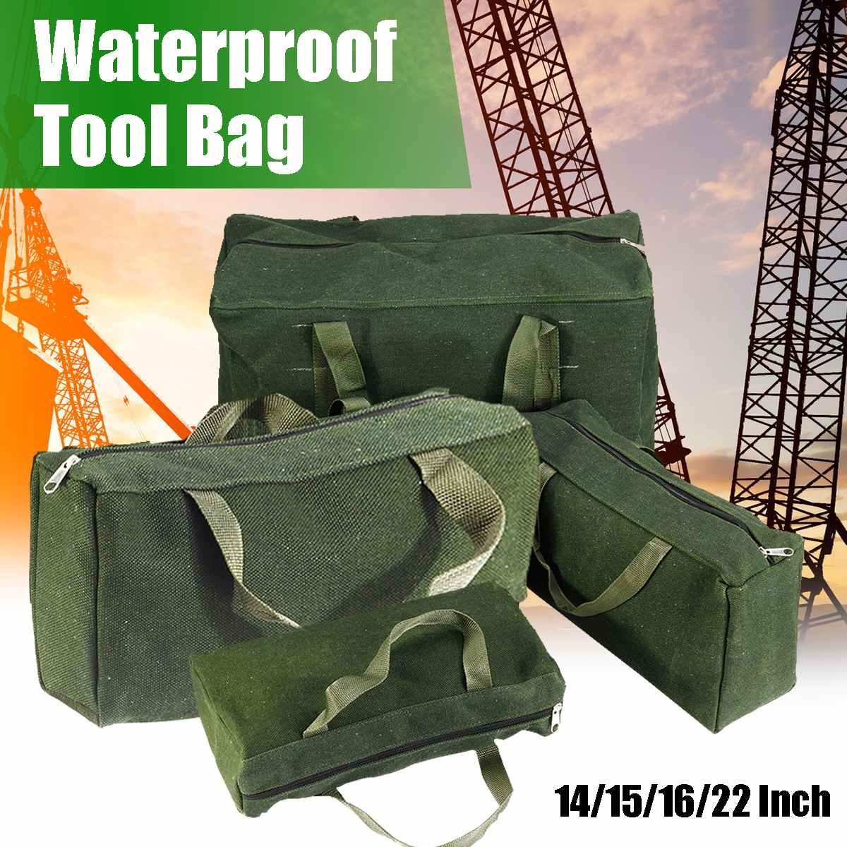 Sac à outils de grande capacité 14/15/16/22 pouces, sac à outils en toile Durable, étanche, vis en métal, pince de forage, étui de rangement de la clé