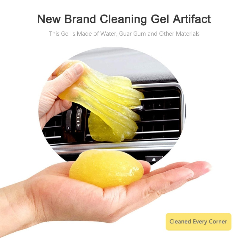 1pc/2pcs Car Cleaner Interior Dashboard Air Vent Wash Mud Keyboard Cleaning Gel Mobile Computer Gap Dust Dirt Cleaning Tool