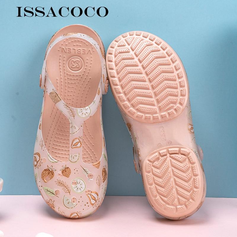 ISSACOCO sandalias de mujer, zapatillas de playa de verano al aire libre, mocasines, sandalias de jardín, sandalias de mujer, sandalias de agua, zapatillas Kapcie