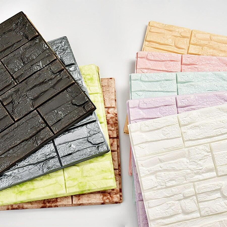 Papiers peints 3D auto-adhésifs   Nouveaux panneaux muraux, à motifs de pierre 3D, pour la chambre à coucher, décor de la maison
