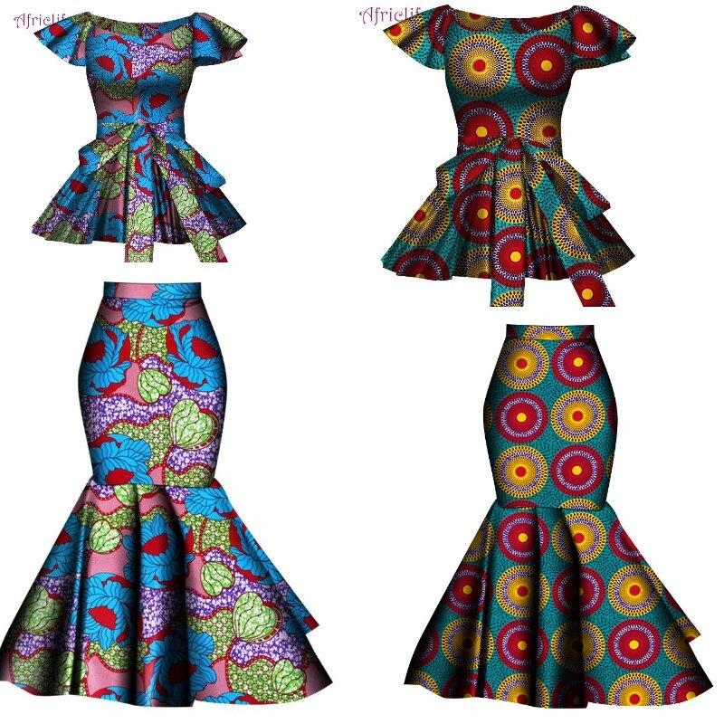 Специальная Расклешенная юбка и топ WY4678 + KG914 юбка расклешенная из экокожи