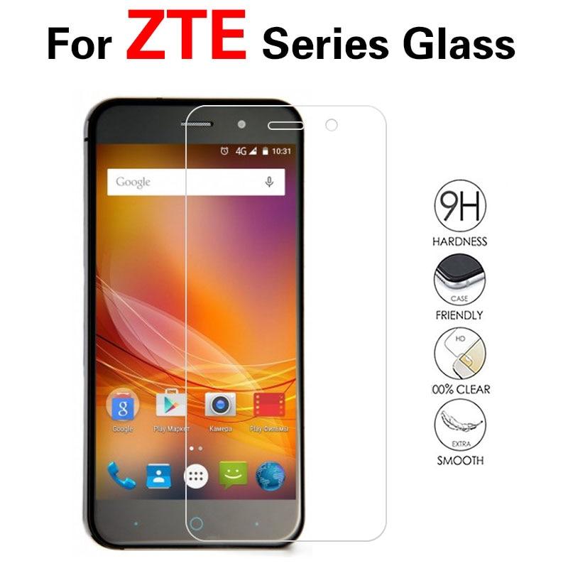 De templado de vidrio de película para ZTE X3 X7 S6 S7 Axon 7 MINI 7 S Max 2017 N915 802 Q7/hoja de S6 Lux M901C I II generación Protector de pantalla