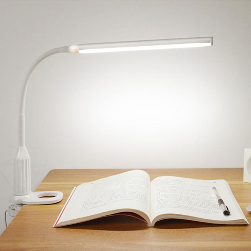 5W 24 LEDs Auge Schützen Clamp Clip Licht Tisch Lampe Stufenlos Dimmbar Biegsamen USB Powered Touch Sensor Control lesen schreibtisch lampe