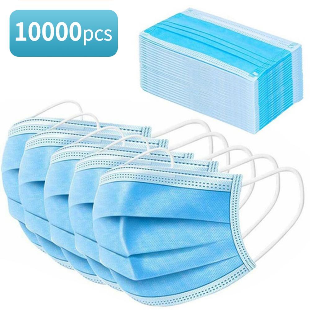 ¡En Stock! 5000/10000 Uds Niet-geweven 3-Ply Anti-° Wegwerp Veilig Ademend Gezicht niños Volwassen piso Lus filtro envío gratis