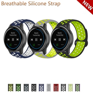 20mm 22mm Silicone Band Strap for Garmin Active vivoactive 4 Replacement Watchband