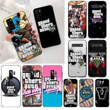 Grand Theft Auto GTA V Neu Angekommen Schwarz Handy Fall für Samsung S20 plus Ultra S6 S7 rand S8 s9 plus S10 5G lite 2020