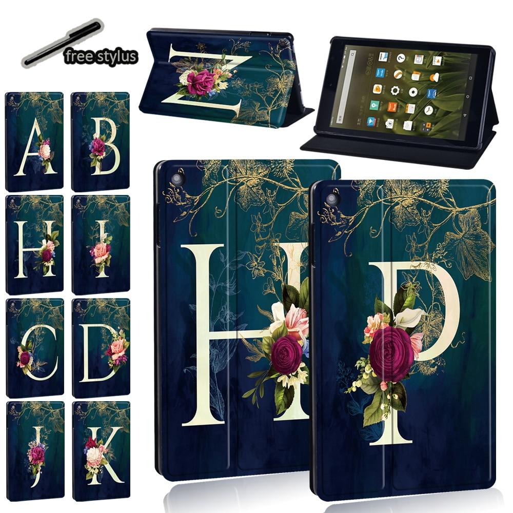Для Amazon Fire 7 (5/7/9th)/Fire HD 8 Plus/HD8 (10th/6/7/8th)/HD10(5/7/9th) противоударный кожаный чехол для планшета + Бесплатный стилус