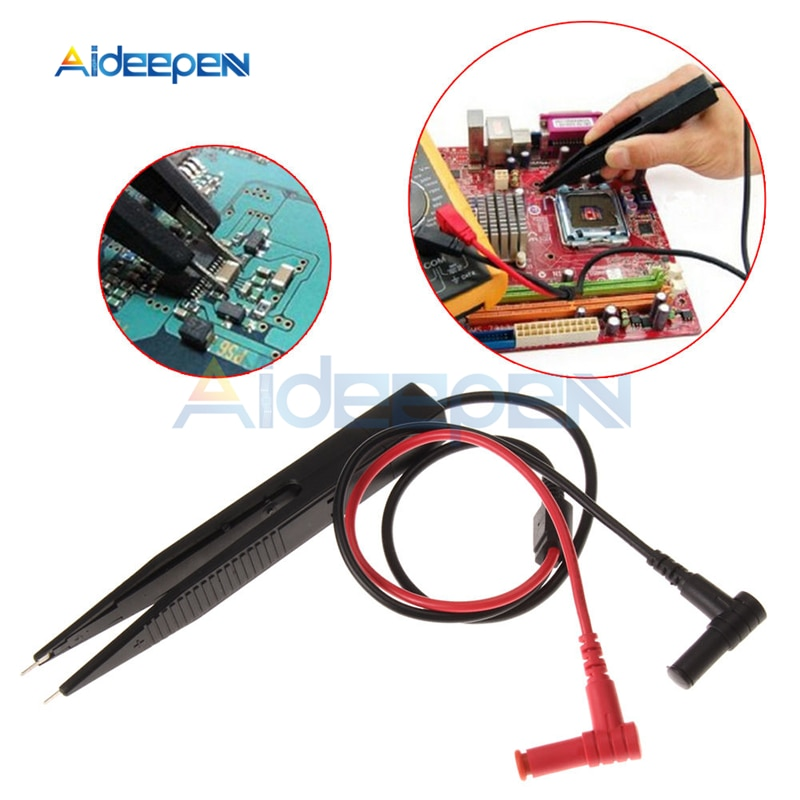 P1510 Multimeter SMD Test Leads Chip Pen LCR Testing Tool Multimeter Tester Meter Pen Probe Lead Tweezers AC 250V For Vichy