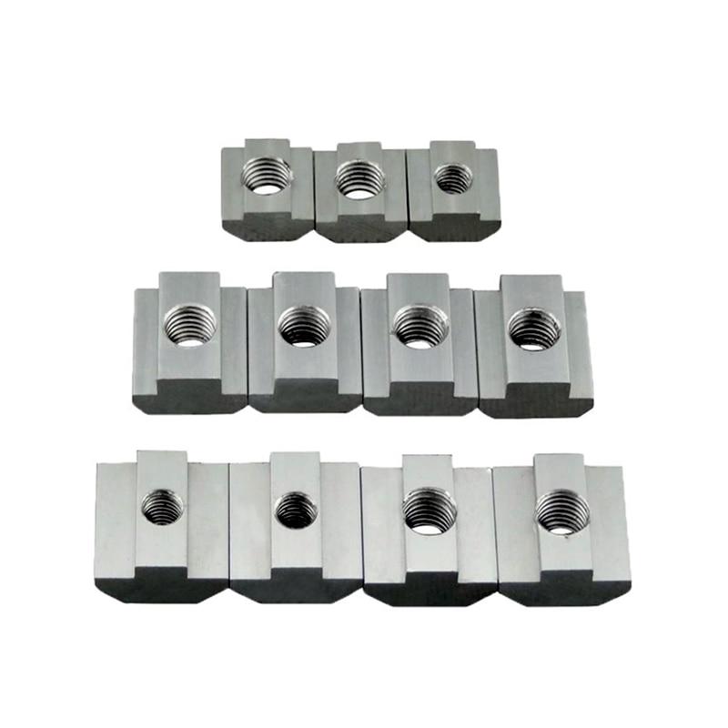 T Block square nuts M3 M4 M5 M6 M8 Slot t nut Sliding hammer nut for 2020 3030 4040 Aluminum profile fasten nuts