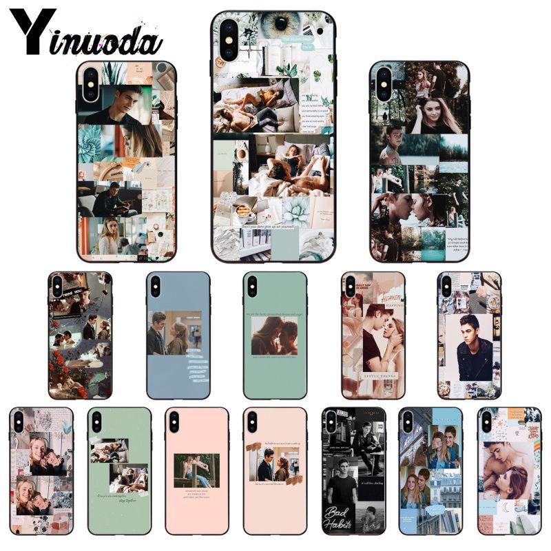 Carcasa suave negra de Yinuoda para iPhone 11, 8, 7, 6, 6S Plus, X, XS, MAX, 5, 5S, SE, 2020, XR, 11 pro