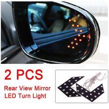 2 pièce/ensemble voiture style flèche indicateur 14 SMD LED voiture côté arrière clignotant indicateur LED LED rétroviseur extérieur lampe