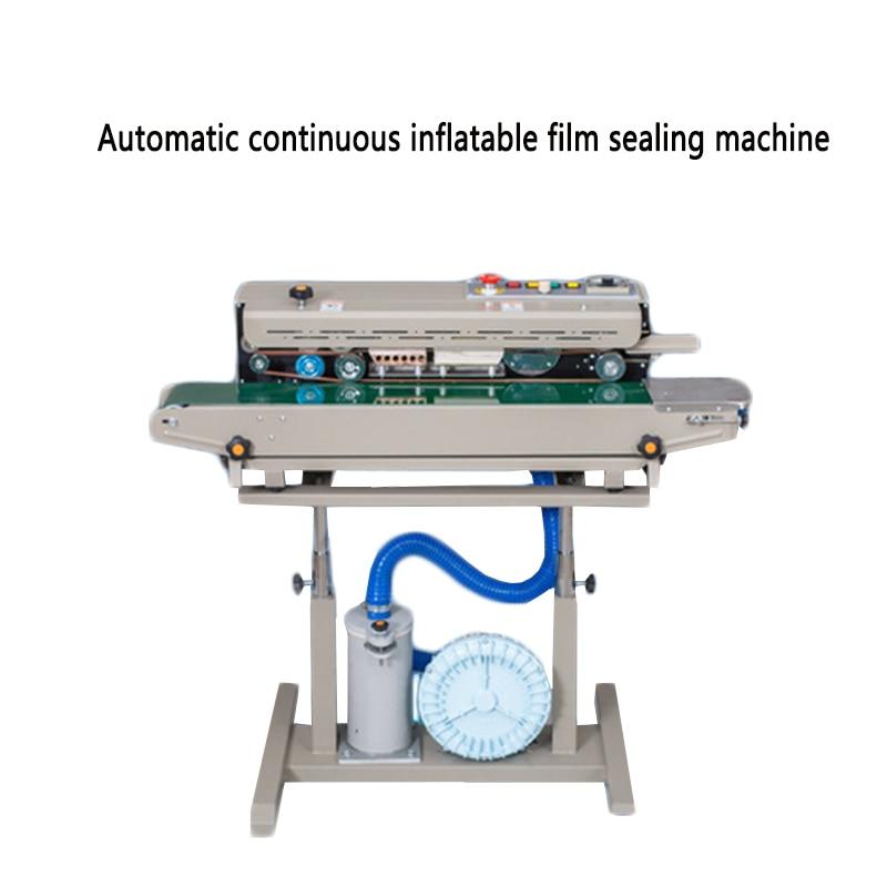 Máquina de sellado DBF-1000, máquina de sellado de película inflable automática continua, máquina de envasado de alimentos, patatas fritas, pan
