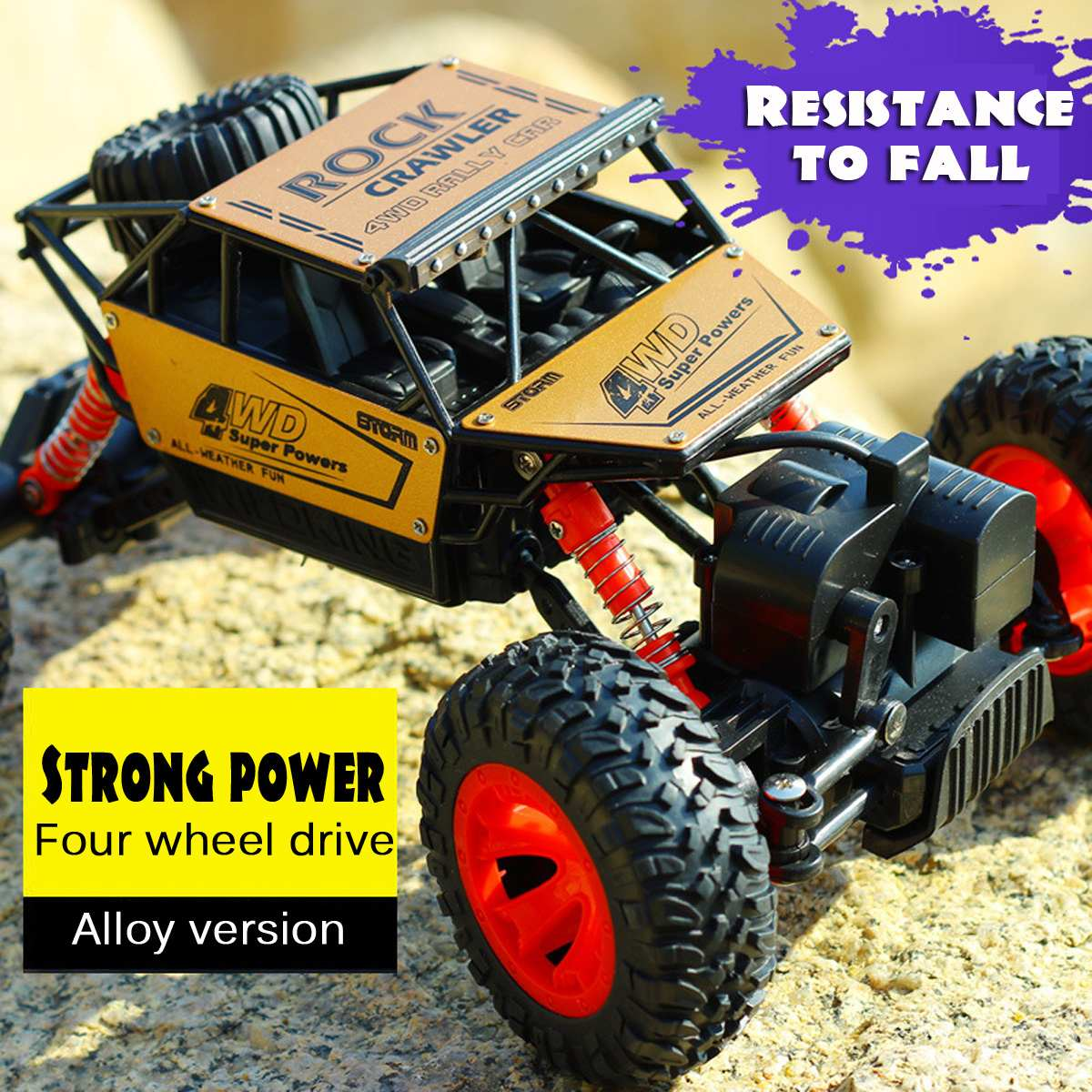 4WD 1/16 RC Cars Updated Version 2.4G Radio Control RC Cars Toys High speed Trucks Off-Road Trucks Toys for Children