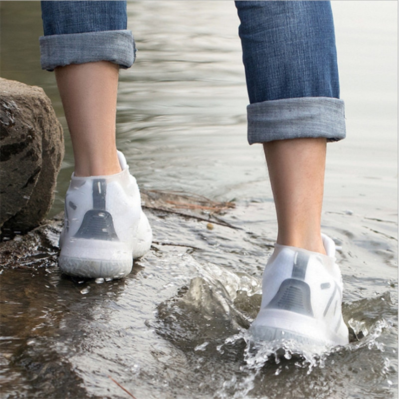 2 Pcs/Set Creative Silicone Shoees Cover Waterproof Non-Slip Foldable Multifunction Portable Outdoor Rain Day Boots Dust Covers enlarge