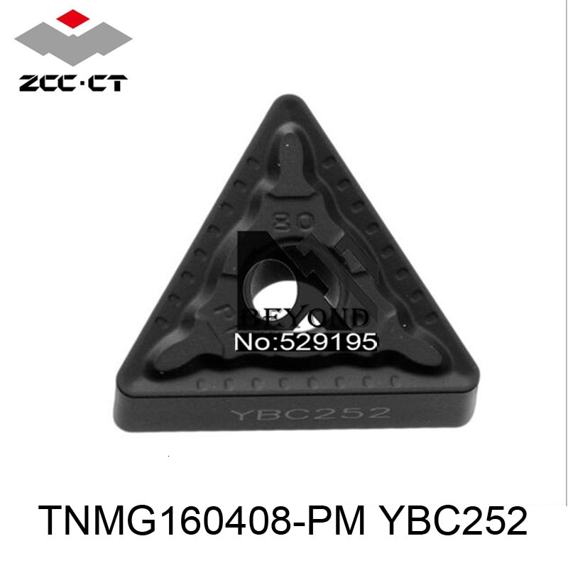 Original ZCC TNMG160408-PM YBC252 TNMG 160408 Carbide Inserts for Mtjnr Mtenn Mtqnr Mtgnr Mtfnr Wtenn Wtqnr Lathe Tools Turning