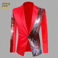 men blazer hombre mens slim fit blazer jacket patchwork single button mans blazer coat chaqueta
