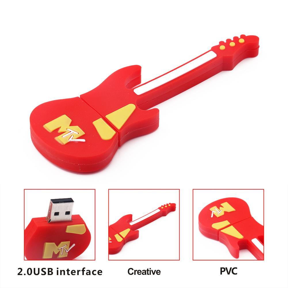 Usb dos desenhos animados 2.0 instrumento musical guitarra 512 mb/1g/2g/4g/8g/16g/32g/64g em forma de guitarra usb flash pen drive memória u disco