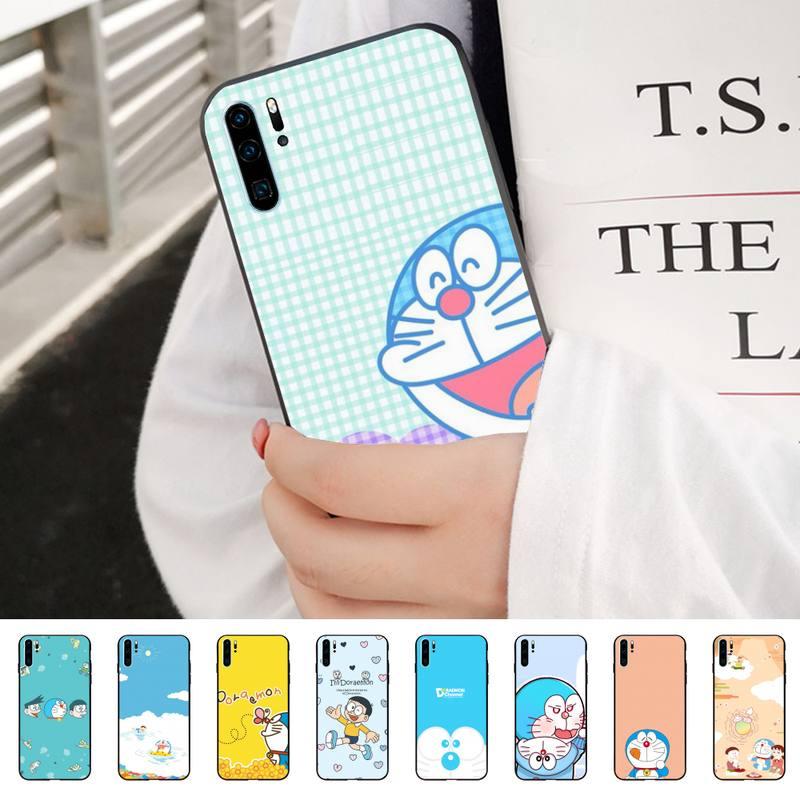 Funda de teléfono blanda de Doraemon para Huawei P8, P9, P10, p20lite2019, P20, P30, funda inteligente