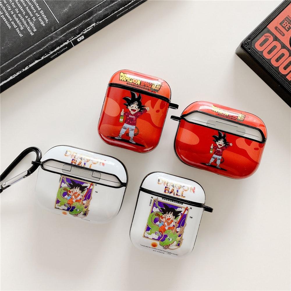 Funda de Guko de Dragon Ball, dibujos japoneses para Airpods 1 2, funda para auriculares con Bluetooth para Airpods Pro, funda con gancho para cargador